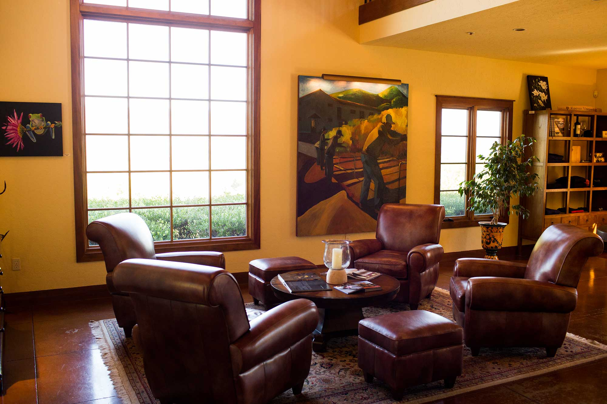 The winery tasting room at Keever Vineyards in Yountville, California