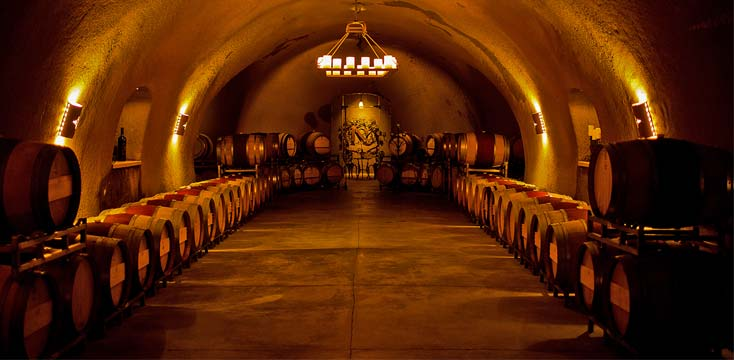 Keever Vineyards wine cave in Yountville, CA